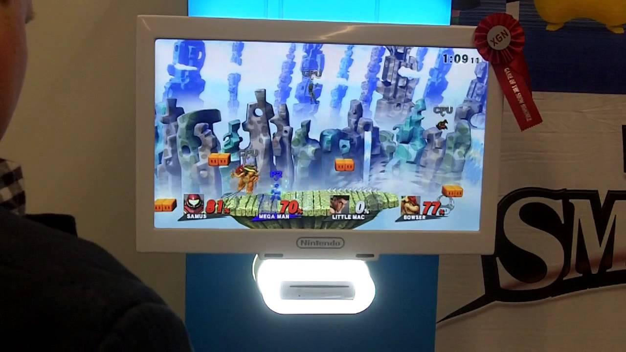 Super Smash Bros. Wii U - Giga Bowser on Mushroom Kingdom U Gameplay (Gamescom 2014)