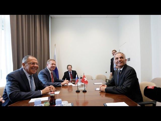Sergey Lavrov and Didier Burkhalter | С.Лавров и Д.Буркхальтер
