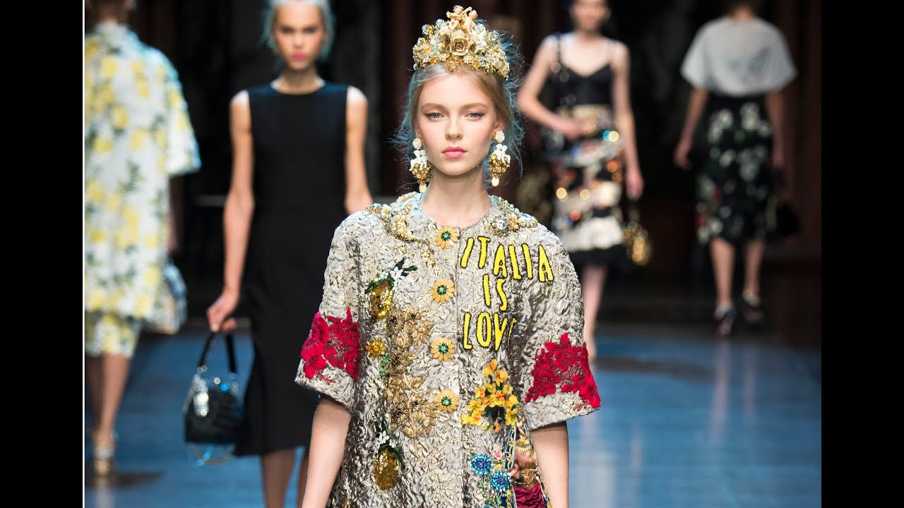 2eab9ee2d1 Dolce & Gabbana Spring 2016 Ready-To-Wear MFW - YouTube