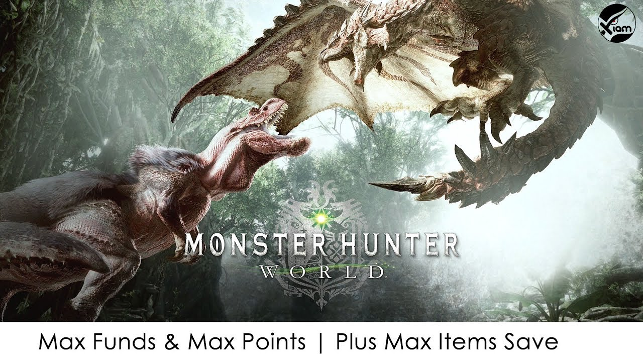[PS4] Monster Hunter: World | Max Funds & Max Points | Plus Max Items Save