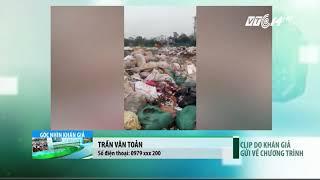 VTC14 | Hòa Bình: Ô nhiễm rác thải tại ngã tư chợ Bến