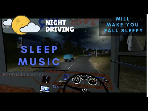 Night Driving On Highway | Bussid Gameplay - Cabin View