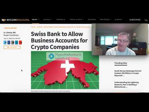 Swiss Bank Allows For Busines Crypto Accounts
