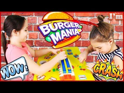 Челлендж БУРГЕР МАНИЯ Challenge Burger Mania Веселая игра для детей и взрослых
