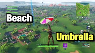 New Season 5 Umbrella Unlock (Beach Umbrella) showcase Fortnite