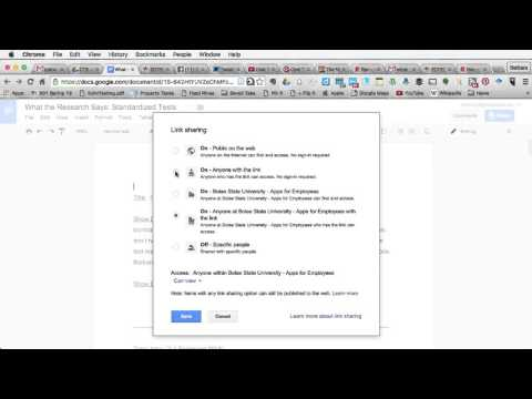How to Locate Link for Sharing with Anyone in Google Docs