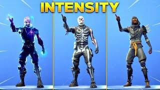 *NEW* INTENSITY EMOTE On All New Fortnite Skins & With All Popular Fortnite Skins!