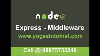 middleware in express   Hindi   How to create REST API using express Part-3