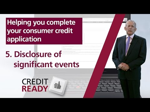 5. Disclosure of Significant Events - FCA Consumer Credit Guides