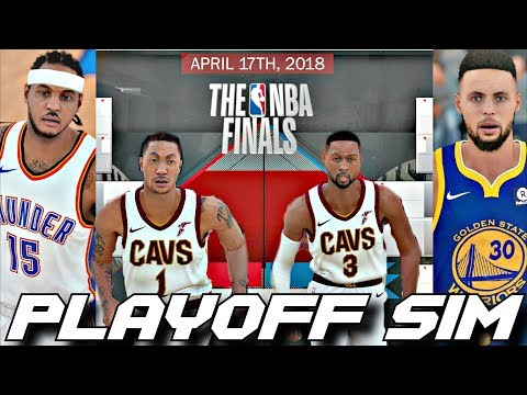 EVERYONE'S IN THEIR PRIME IN THE 2018 PLAYOFF SIMUALTION ON NBA2K18!!!