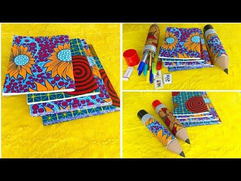 5-Minute DIY Ankara notebook // back to school DIY