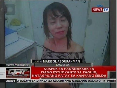 QRT: Suspek sa pananaksak sa isang estudyante sa Taguig, natagpuang patay sa kanyang selda