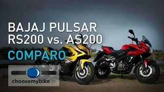 Bajaj Pulsar RS 200 Vs Pulsar AS 200 : ChooseMyBike.in Review