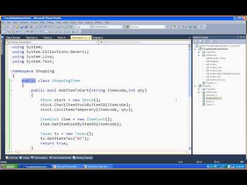 Facade design pattern in .net,C#
