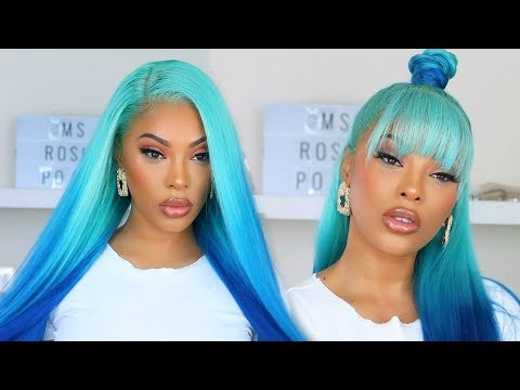 watch-me-slay-this-wig-|-blue-ombre-hair
