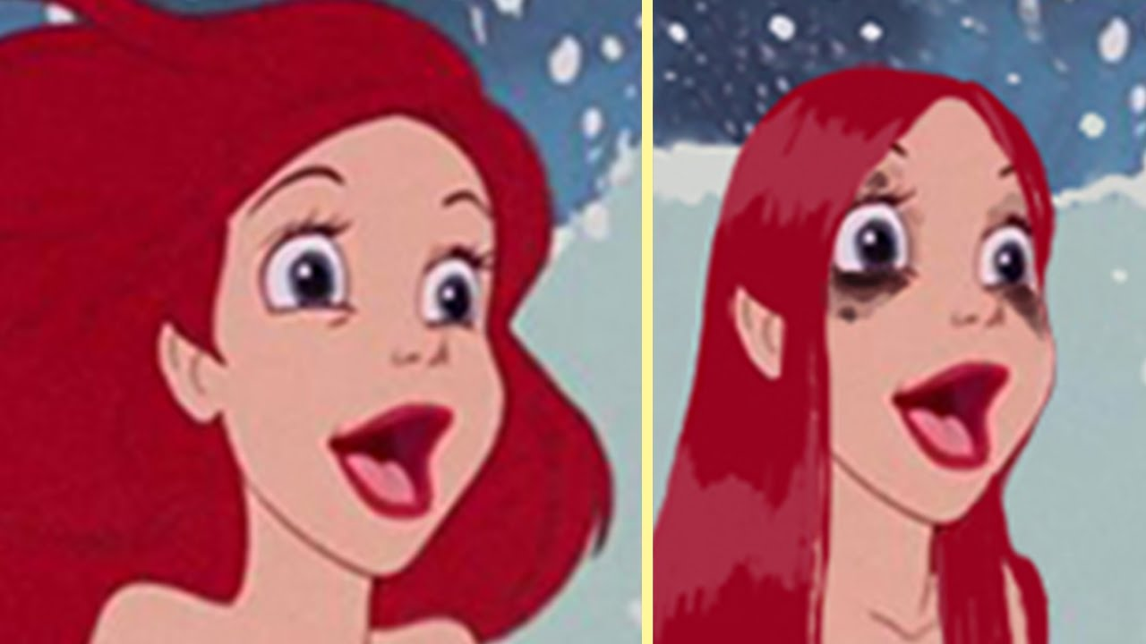 if disney princesses wore realistic makeup youtube