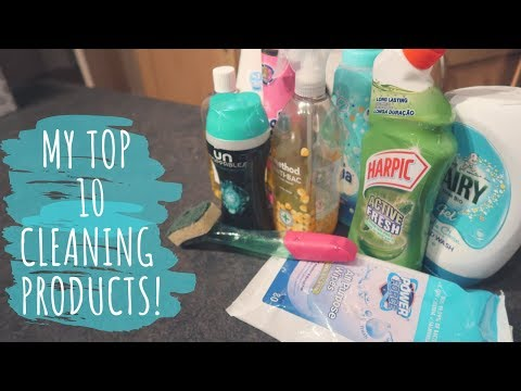 MY TOP 10 CLEANING PRODUCTS!