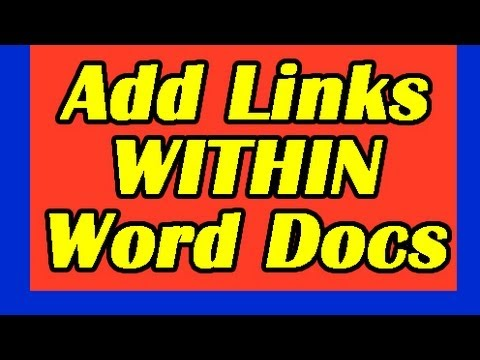 Microsoft Word: How to Add HYPERLINKS Within Same Document. Bookmarks Tutorial Lesson Links Mac