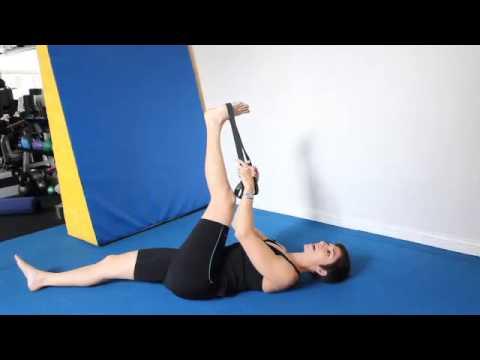 Floor Stretch for Hamstrings (Biceps Femoris)