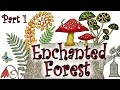 Coloring Book Tutorial - Enchanted Forest Tree Stump with Colored Pencil Part 1