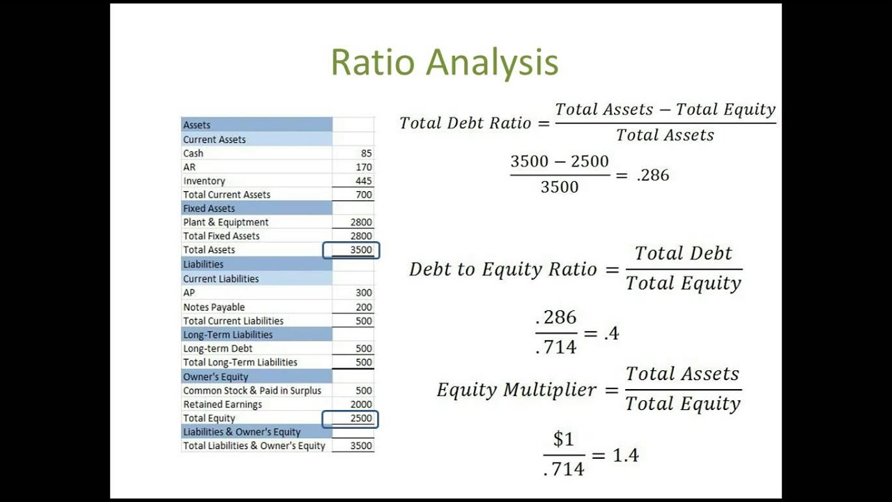 analysis of ratios Here are the calculations you should do to conduct a proper financial analysis of your business's  each containing its own set of data points and ratios 1.