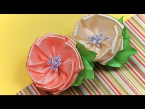 Цветок из ленты. Мастер-класс / Ribbon Flower Tutorial / ✿ NataliDomaиз YouTube · С высокой четкостью · Длительность: 3 мин19 с  · Просмотры: более 174000 · отправлено: 21.09.2014 · кем отправлено: NataliDoma DIY