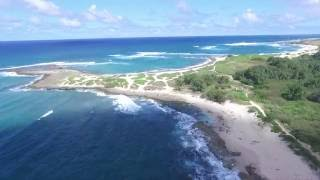 DJI Drone flying around Turtle Bay (Hawaii - Oahu)