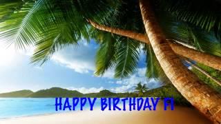 Fi  Beaches Playas - Happy Birthday
