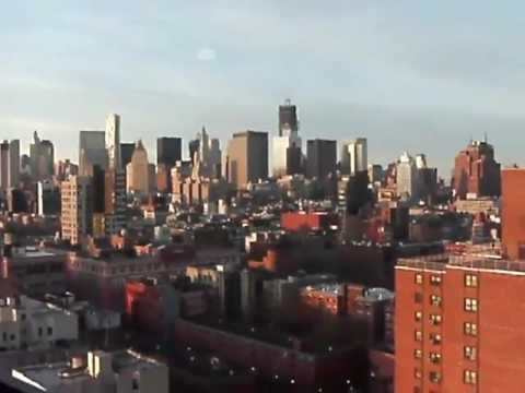 MANHATTAN SKYLINE - TERRACE VIEW FROM PENTHOUSE OF LES THOMPSON HOTEL NYC