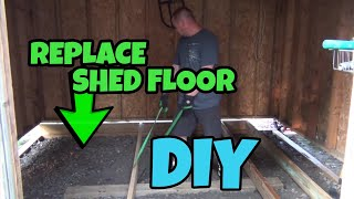 Replace Rotted Shed Floor By Jacking The Shed Up