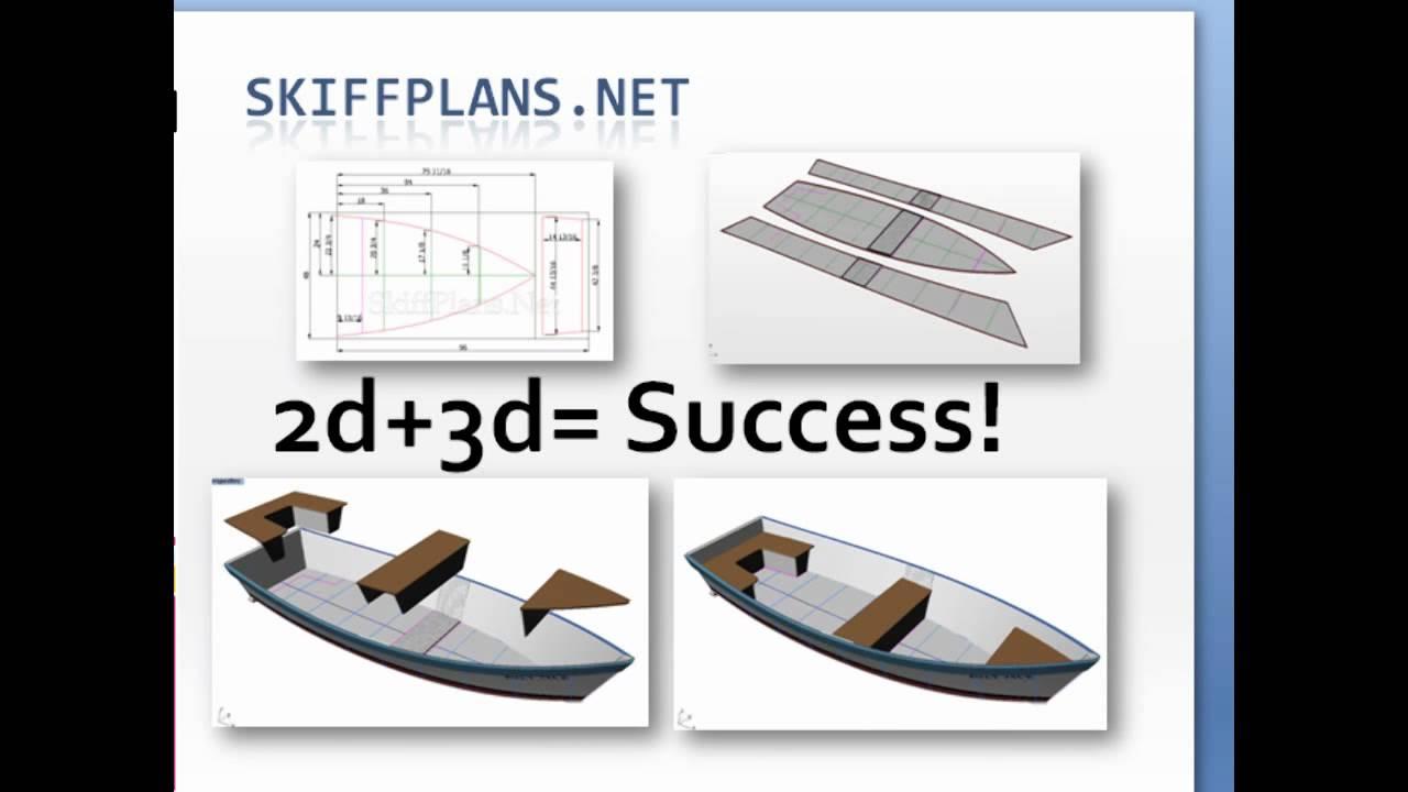 New 3d Skiff Plans - YouTube