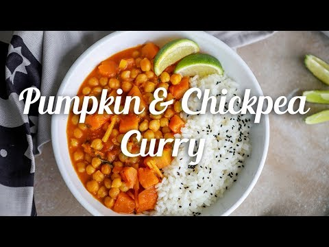 Pumpkin and Chickpea Curry – video recipe