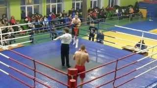 knockout kikboxing (кикбоксинг нокаут)(Нокаут в первом раунде на первенстве ОГФСО