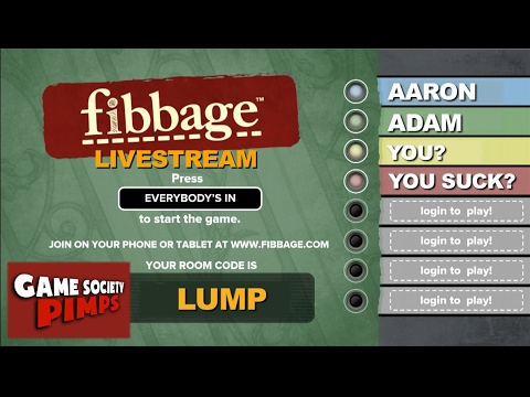 Fibbage - Play With Us, Pick Funniest Answers LIVESTREAM - Game Society