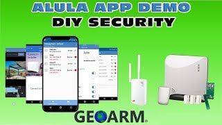 Alula Interactive Monitoring App - GEOARM Security