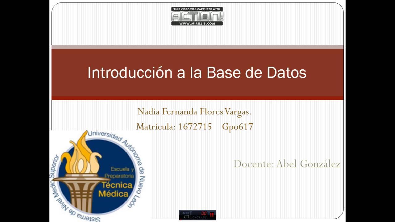 INTRODUCCION A BASE DE DATOS UANL - YouTube