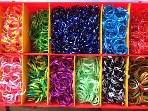 Обзор моих резинок и наборов Rainbow Loom