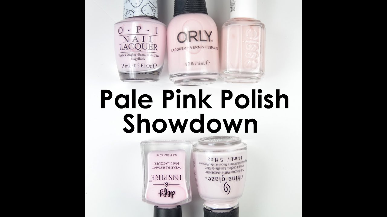 Pale Pink Polish Showdown - YouTube