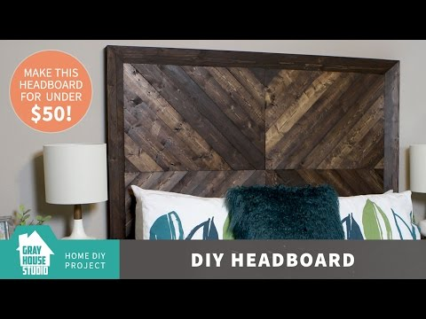 DIY Chevron Wood Headboard for Less than $50