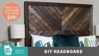 DIY Chevron Wood Headboard for Less than $50