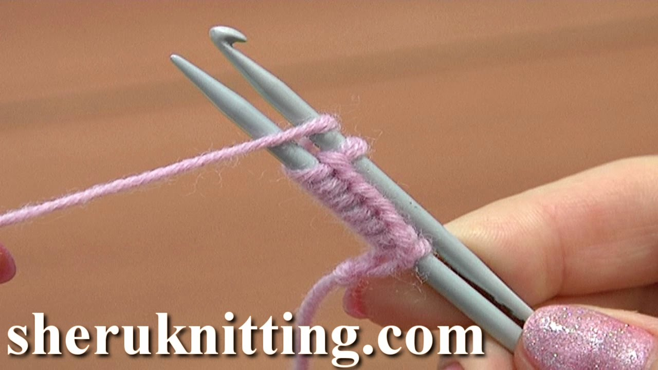 How To Cast On Knitting Stitches With Two Needles : Cast On With a Knitting Needle and a Crochet Hook Tutorial 1 Method 13 of 18 ...