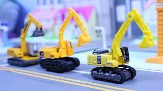 รีวิวของเล่น รถก่อสร้างจิ๋ว มินเนี่ยน รถแม็คโคร รถดั้ม รถแท็กซี่ รถเทรลเลอร์ รถบดดิน รถตักดิน