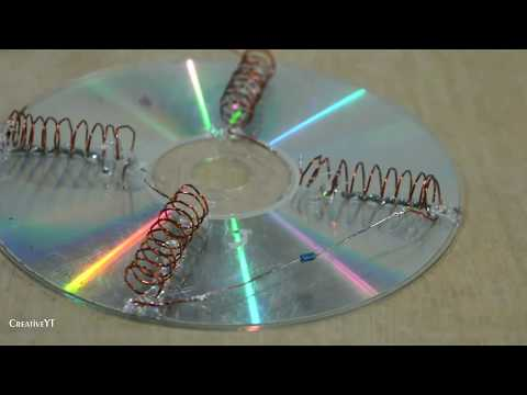 Free Energy Solar Cell 100%   How To Make Free Energy   Free Energy Using CD
