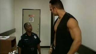 WWE The Rock funny segment with an old lady