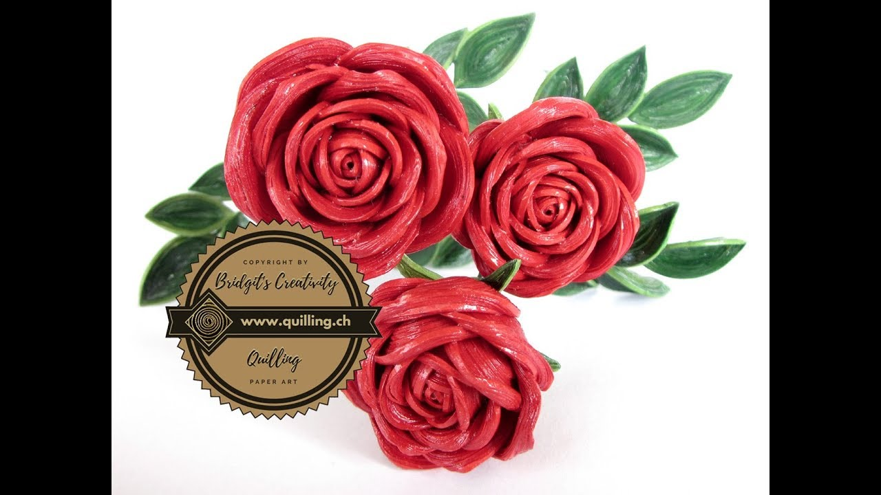 quilling rose part 1 paper flower youtube