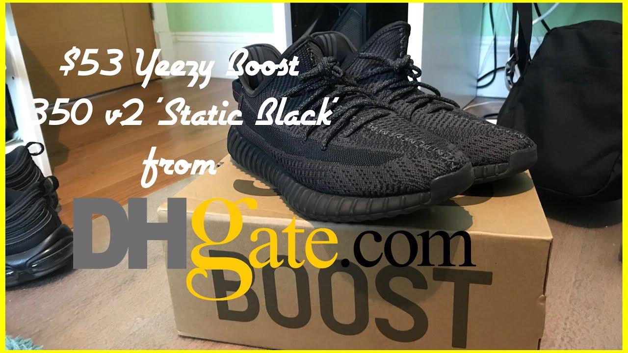 $53 YEEZY BOOST 350 v2 'Static Black