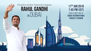 LIVE: Congress President Rahul Gandhi addresses Indian diaspora in Dubai