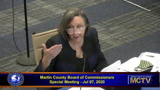 Martin County Board Special Meeting July 7, 2020