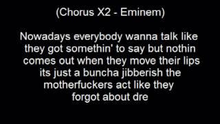 Dr. Dre - Forgot About Dre  Lyrics