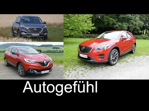 Best compact SUV comparison test Renault Kadjar vs Mazda CX-